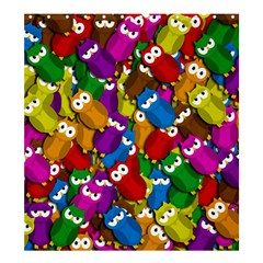 Cute Owls Mess Shower Curtain 66  X 72  (large)  by Valentinaart