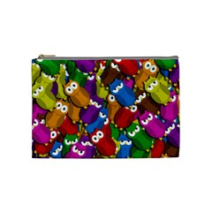 Cute Owls Mess Cosmetic Bag (medium)  by Valentinaart