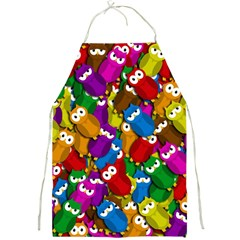 Cute Owls Mess Full Print Aprons by Valentinaart