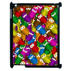 Cute Owls Mess Apple Ipad 2 Case (black) by Valentinaart