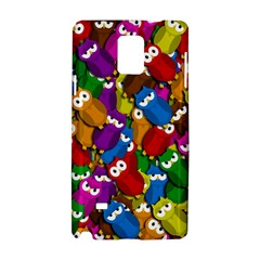 Cute Owls Mess Samsung Galaxy Note 4 Hardshell Case by Valentinaart
