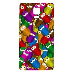 Cute Owls Mess Galaxy Note 4 Back Case by Valentinaart