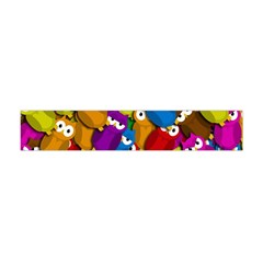 Cute Owls Mess Flano Scarf (mini) by Valentinaart