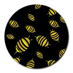 Decorative Bees Round Mousepads by Valentinaart