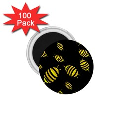 Decorative Bees 1 75  Magnets (100 Pack)  by Valentinaart