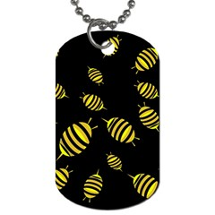 Decorative Bees Dog Tag (one Side) by Valentinaart