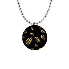 Decorative Bees Button Necklaces by Valentinaart