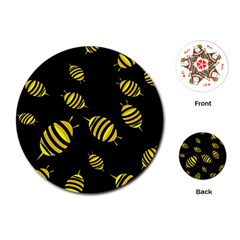Decorative Bees Playing Cards (round)  by Valentinaart