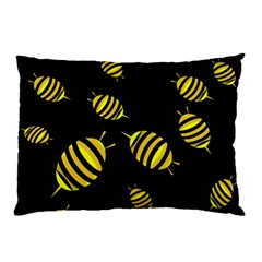 Decorative Bees Pillow Case by Valentinaart