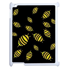 Decorative Bees Apple Ipad 2 Case (white) by Valentinaart