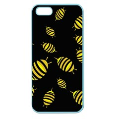 Decorative Bees Apple Seamless Iphone 5 Case (color) by Valentinaart