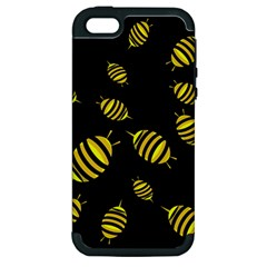 Decorative Bees Apple Iphone 5 Hardshell Case (pc+silicone) by Valentinaart