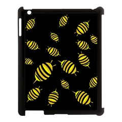 Decorative Bees Apple Ipad 3/4 Case (black) by Valentinaart