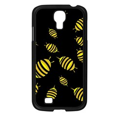 Decorative Bees Samsung Galaxy S4 I9500/ I9505 Case (black) by Valentinaart