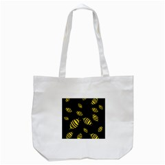 Decorative Bees Tote Bag (white) by Valentinaart