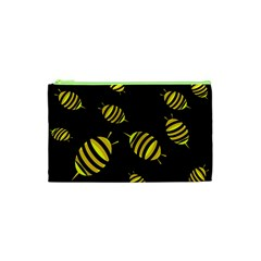Decorative Bees Cosmetic Bag (xs)