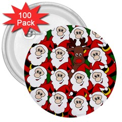 Did You See Rudolph? 3  Buttons (100 Pack)  by Valentinaart