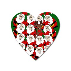 Did You See Rudolph? Heart Magnet by Valentinaart
