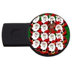 Did You See Rudolph? Usb Flash Drive Round (2 Gb)  by Valentinaart