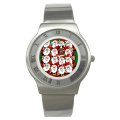 Did You See Rudolph? Stainless Steel Watch by Valentinaart