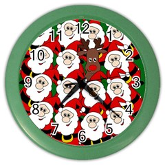 Did You See Rudolph? Color Wall Clocks by Valentinaart