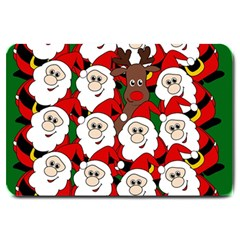 Did You See Rudolph? Large Doormat  by Valentinaart
