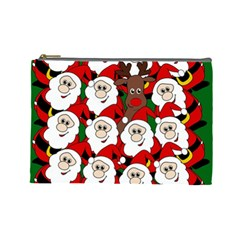 Did You See Rudolph? Cosmetic Bag (large)  by Valentinaart