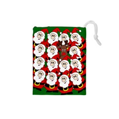 Did You See Rudolph? Drawstring Pouches (small)  by Valentinaart