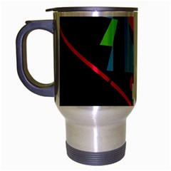 Abstract Composition  Travel Mug (silver Gray) by Valentinaart