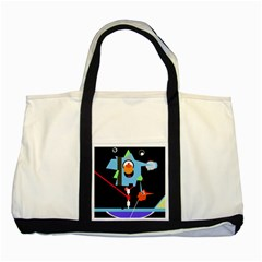Abstract Composition  Two Tone Tote Bag by Valentinaart