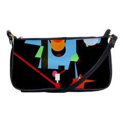 Abstract Composition  Shoulder Clutch Bags by Valentinaart