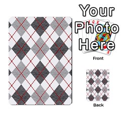 Fabric Texture Argyle Design Grey Multi Purpose Cards (rectangle)