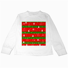 Xmas Pattern Kids Long Sleeve T Shirts by Valentinaart