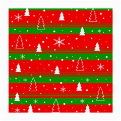 Xmas Pattern Medium Glasses Cloth (2 Side) by Valentinaart
