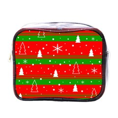 Xmas Pattern Mini Toiletries Bags by Valentinaart
