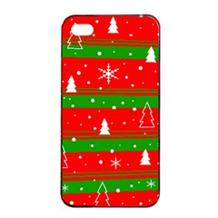 Xmas Pattern Apple Iphone 4/4s Seamless Case (black) by Valentinaart