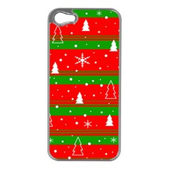 Xmas Pattern Apple Iphone 5 Case (silver) by Valentinaart