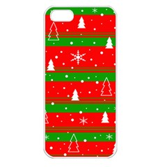 Xmas Pattern Apple Iphone 5 Seamless Case (white) by Valentinaart