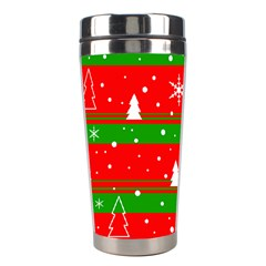 Xmas Pattern Stainless Steel Travel Tumblers by Valentinaart