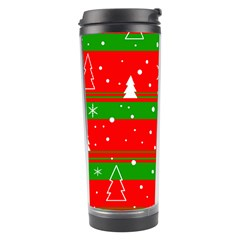 Xmas Pattern Travel Tumbler by Valentinaart
