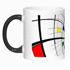 Swirl Grid With Colors Red Blue Green Yellow Spiral Morph Mugs