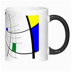 Swirl Grid With Colors Red Blue Green Yellow Spiral Morph Mugs Right