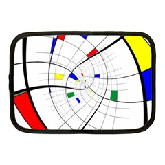 Swirl Grid With Colors Red Blue Green Yellow Spiral Netbook Case (medium)  by designworld65