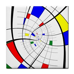 Swirl Grid With Colors Red Blue Green Yellow Spiral Face Towel by designworld65