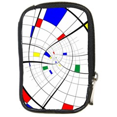 Swirl Grid With Colors Red Blue Green Yellow Spiral Compact Camera Cases by designworld65