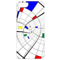 Swirl Grid With Colors Red Blue Green Yellow Spiral Apple Iphone 5 Classic Hardshell Case by designworld65