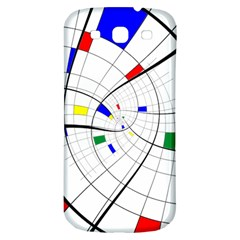 Swirl Grid With Colors Red Blue Green Yellow Spiral Samsung Galaxy S3 S Iii Classic Hardshell Back Case by designworld65