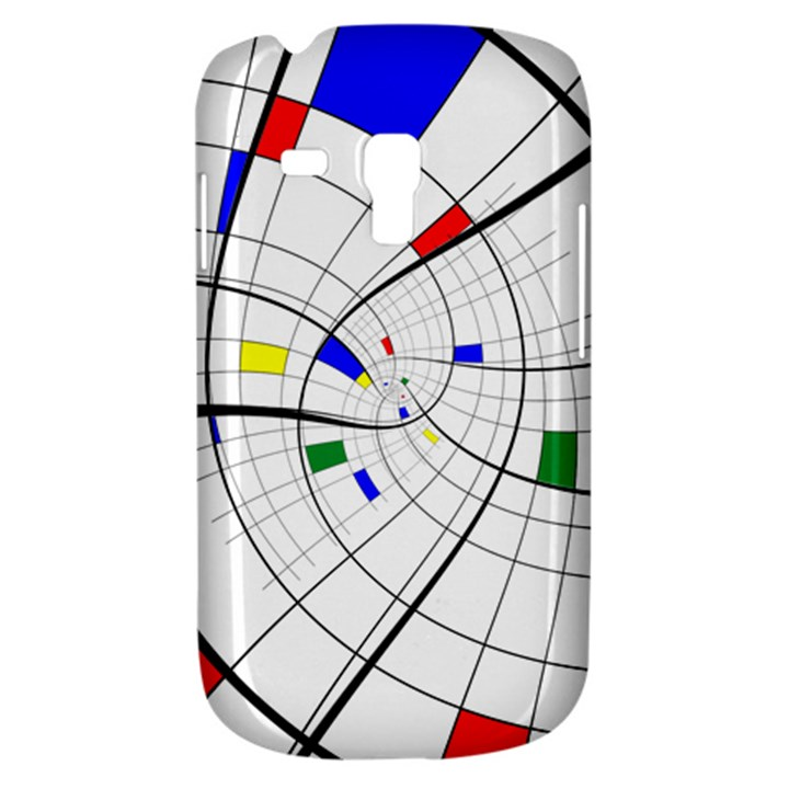 Swirl Grid With Colors Red Blue Green Yellow Spiral Samsung Galaxy S3 MINI I8190 Hardshell Case