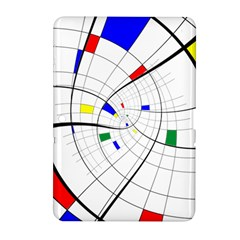 Swirl Grid With Colors Red Blue Green Yellow Spiral Samsung Galaxy Tab 2 (10 1 ) P5100 Hardshell Case  by designworld65