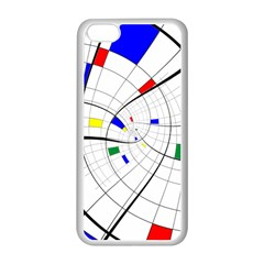 Swirl Grid With Colors Red Blue Green Yellow Spiral Apple Iphone 5c Seamless Case (white) by designworld65